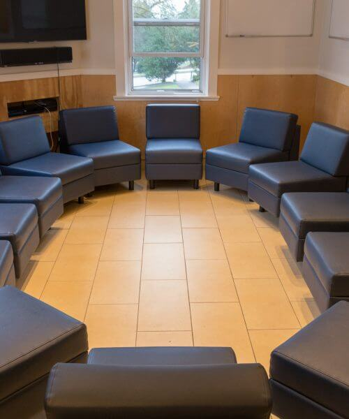 addiction treatment group room
