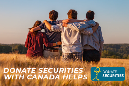 Donate Securities with Canada Helps