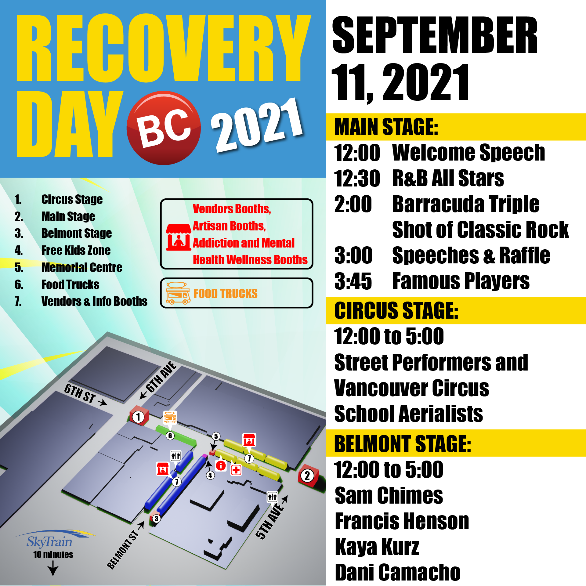 Recovery Day Schedule